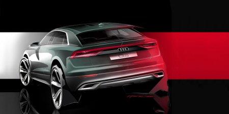 В Сети появилось новое тизерное фото кроссовера Audi Q8