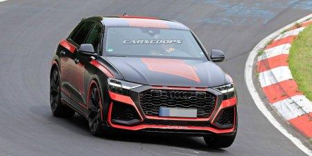 Спортивная версия Audi Q8 с минимальным камуфляжем попала в объективы фотошпионов